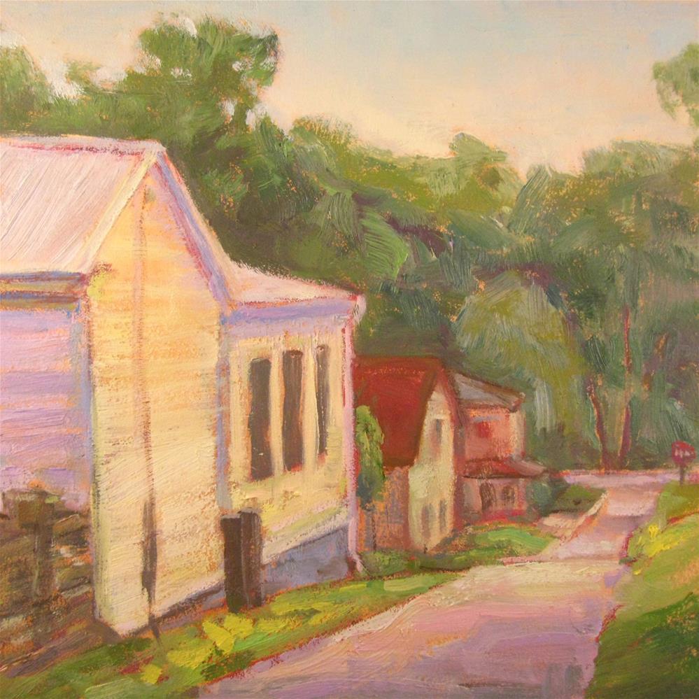 """The White House at the Corner"" original fine art by Robie Benve"