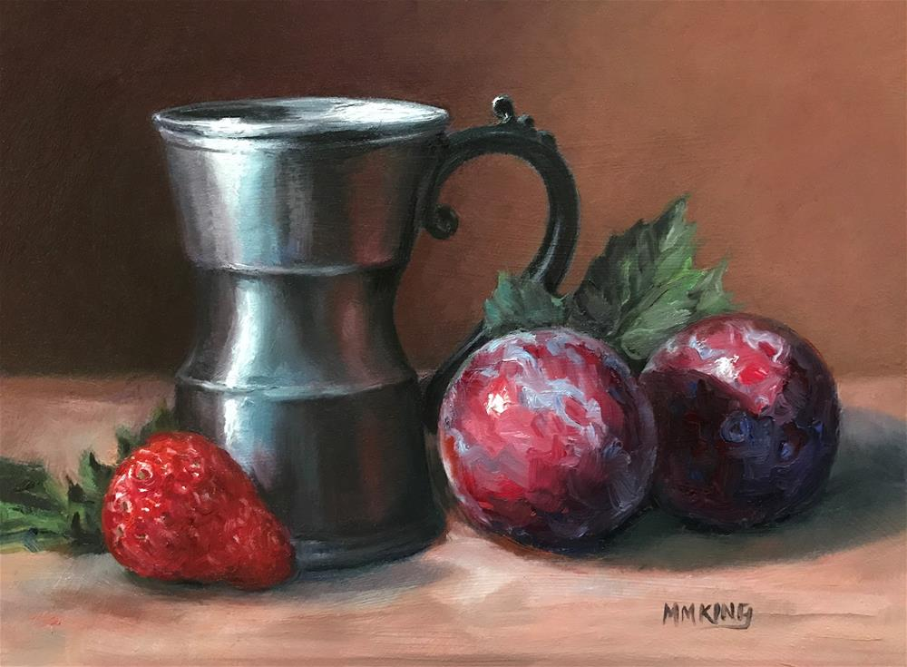 """Pewter and Plums"" original fine art by Marilyn M King"