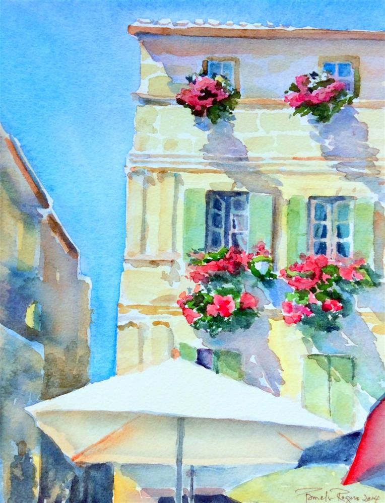"""Vincent's Neighborhood in Arles"" original fine art by Pamela Jane Rogers"