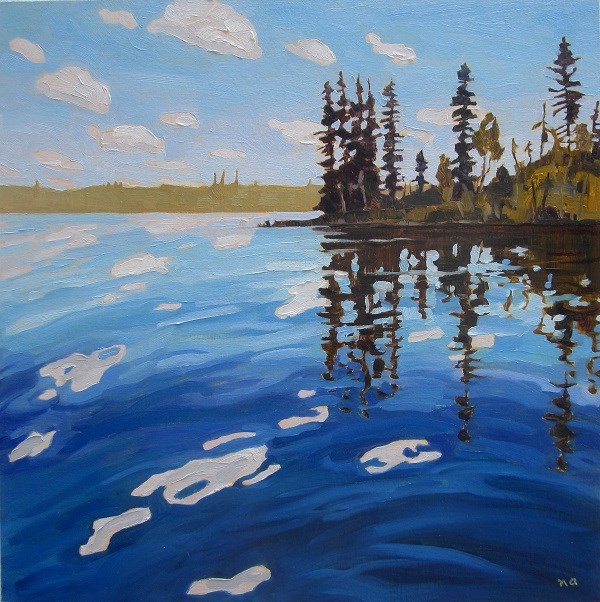 """""""By The Boat Launch, Lynx Lake"""" original fine art by Nicki Ault"""