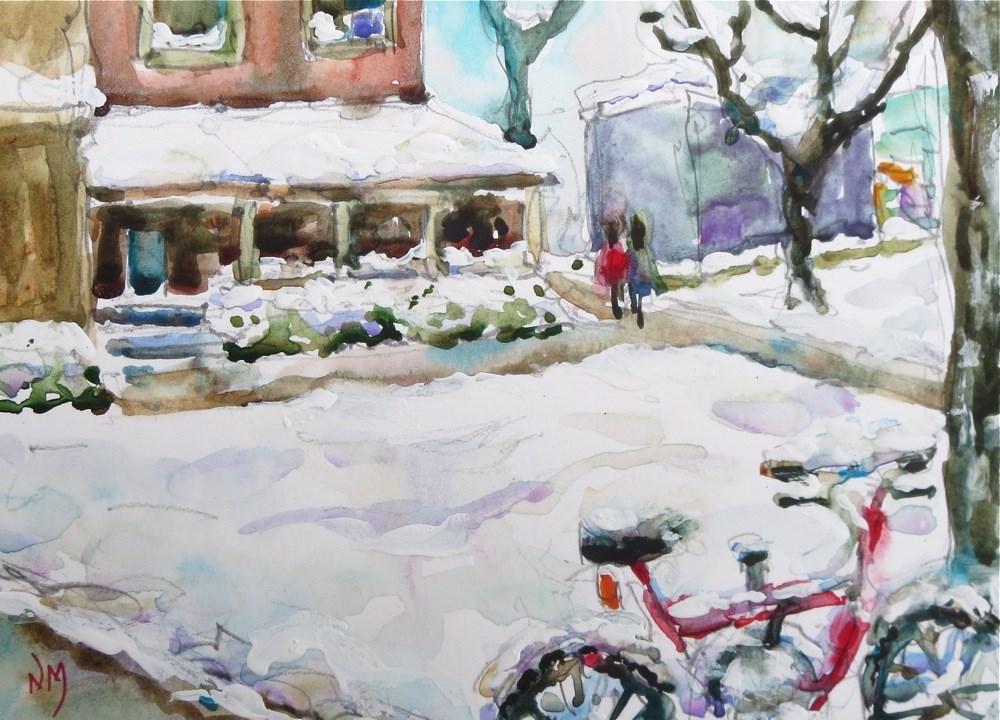 """let's walk"" original fine art by Nora MacPhail"