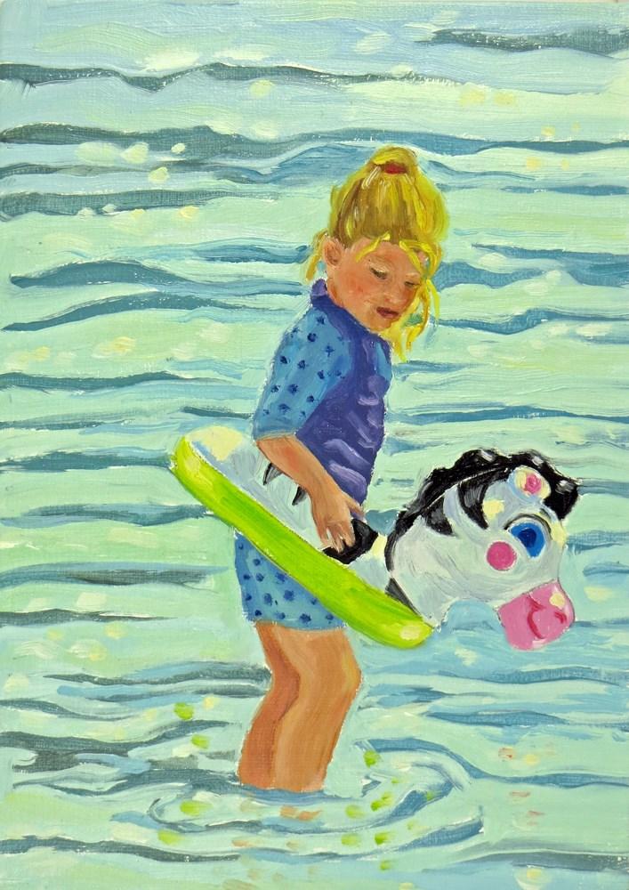 """Blowup Zebra"" original fine art by Rhett Regina Owings"