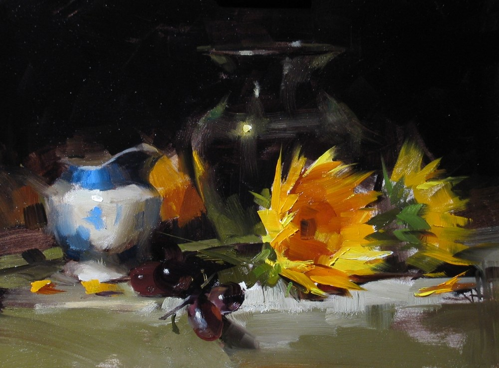 """""""Demo at Albuquerque 2013 2 --- Sold"""" original fine art by Qiang Huang"""