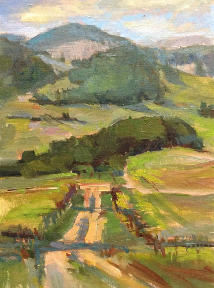 """""""View From King Estate Winery"""" original fine art by Patti McNutt"""