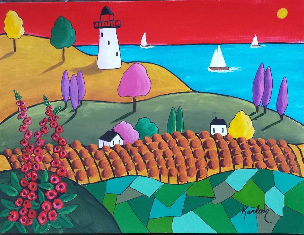 """""""Summer Breeze"""" original fine art by Karleen Kareem"""