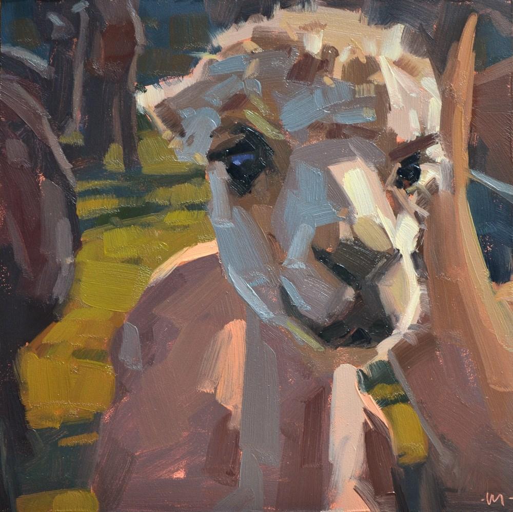 """An Alpaca Afternoon"" original fine art by Carol Marine"