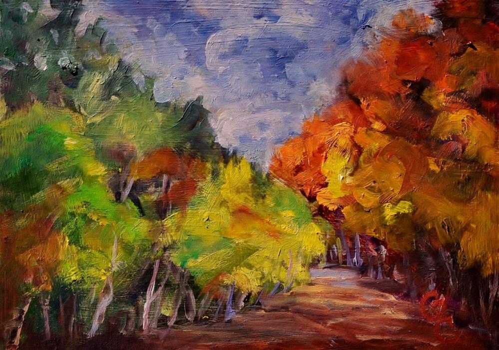 """Summer Vs Fall"" original fine art by Catherine Crookston"