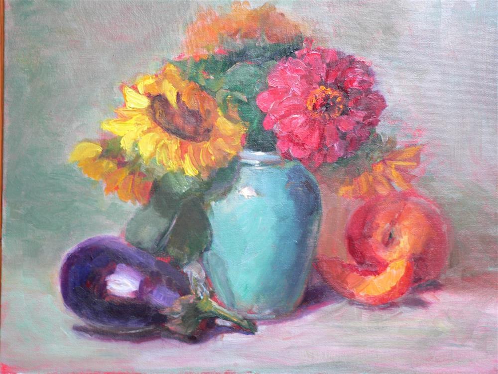 """""""Peaches"""" original fine art by Carol Josefiak"""