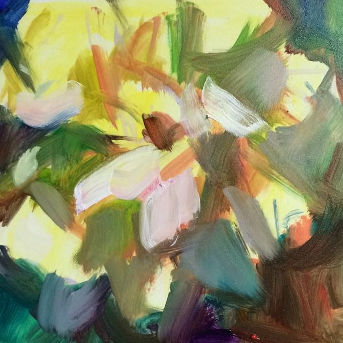 """""""Flower Start"""" original fine art by Sharon Savitz"""