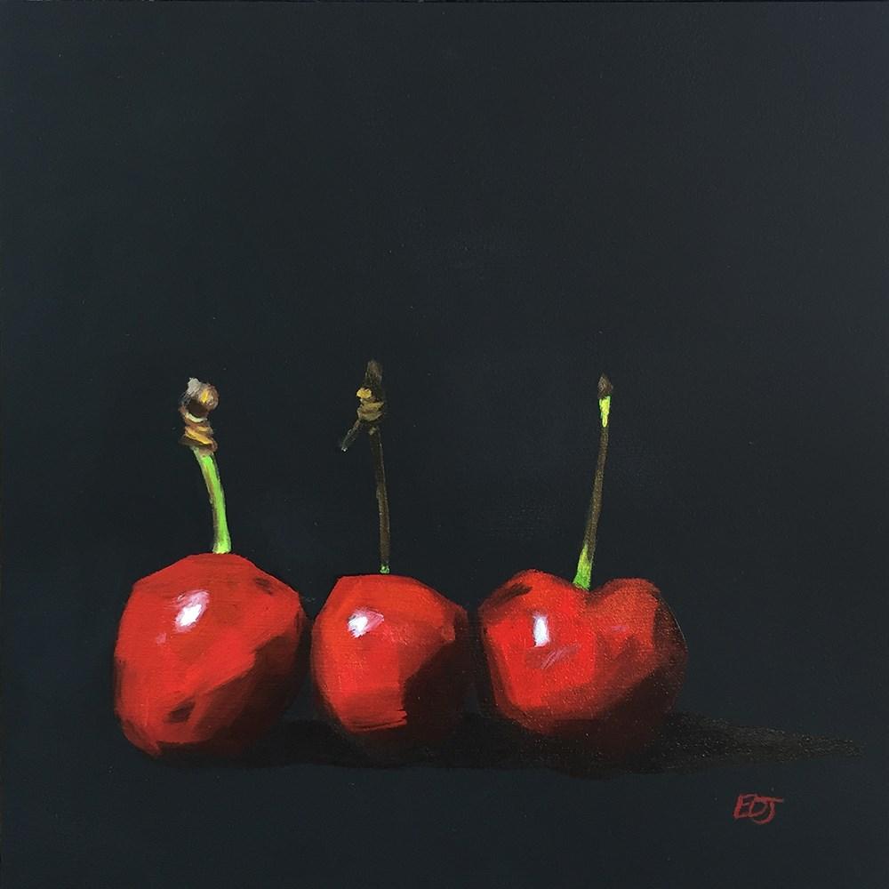 """""""Cherries"""" original fine art by Elizabeth Dawn Johnston"""