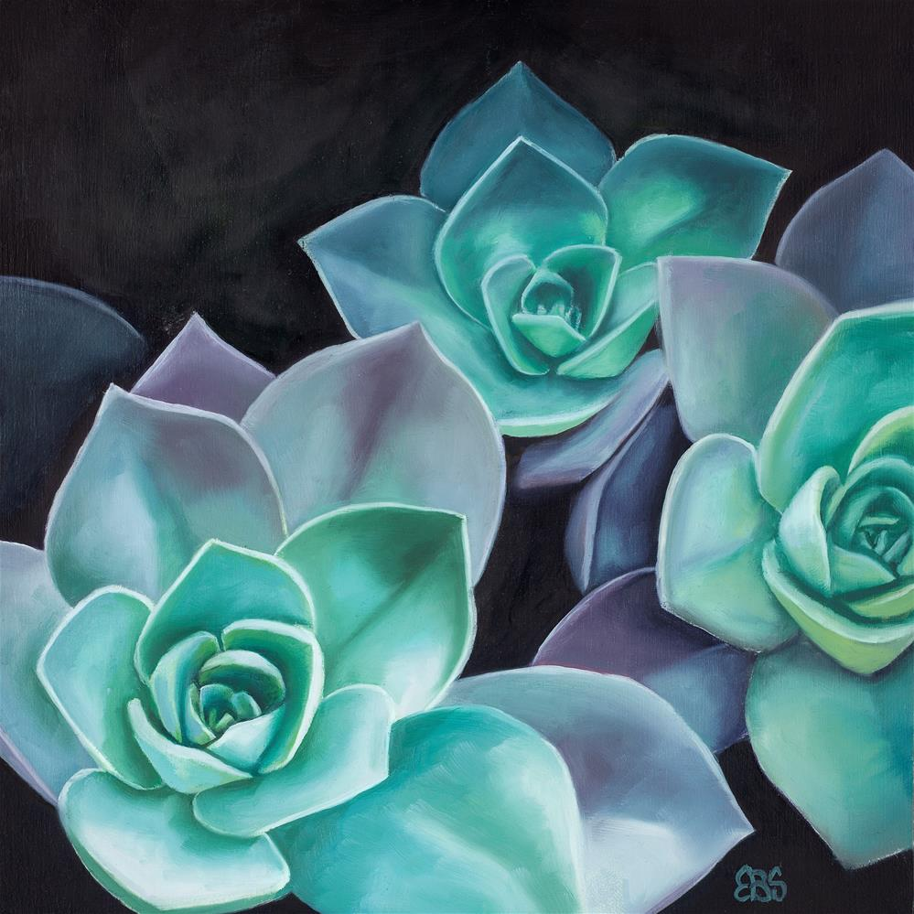 """Succulent No 4"" original fine art by Elaine Brady Smith"