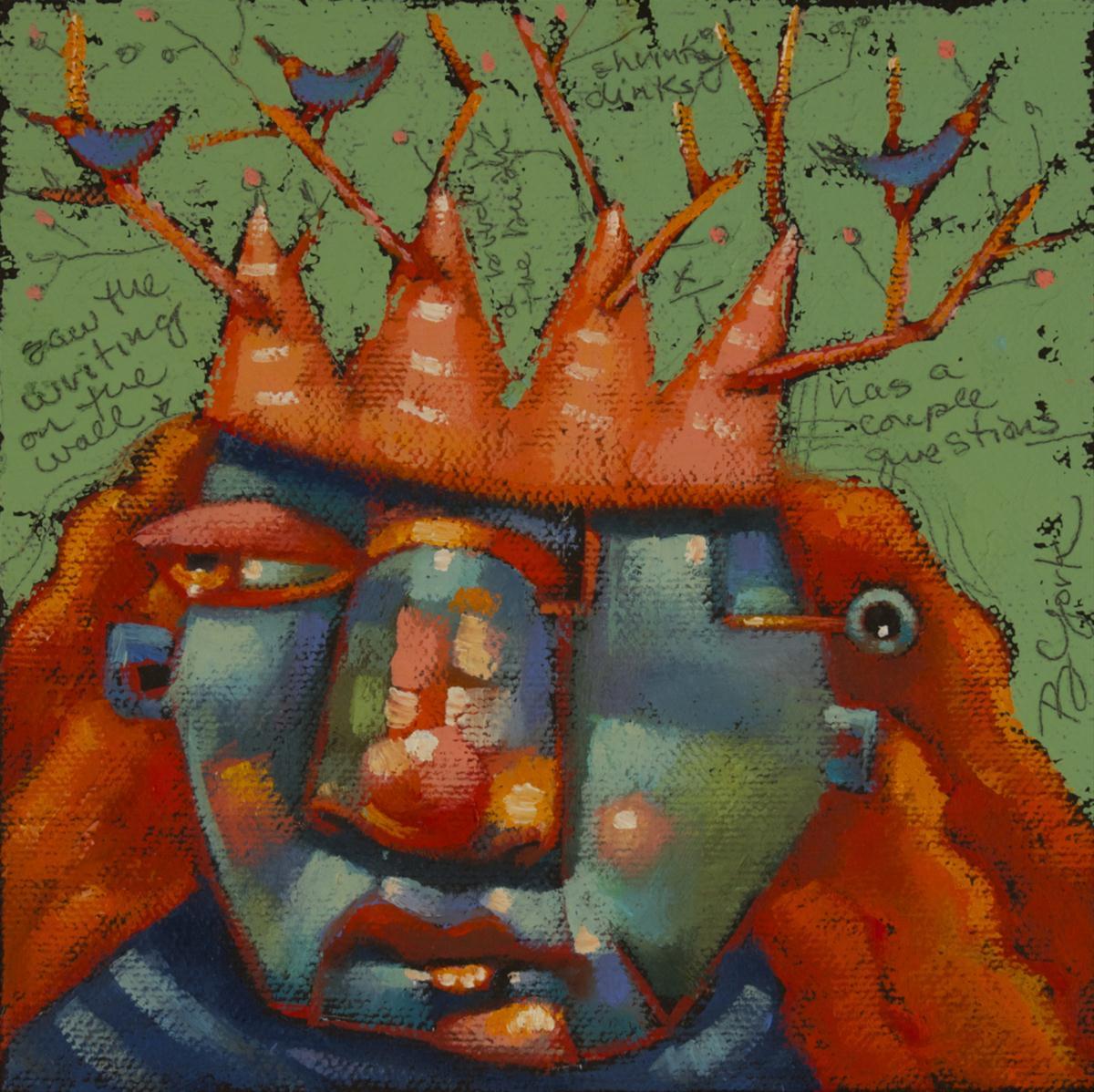 """Saint Fran Of Birdland"" original fine art by Brenda York"