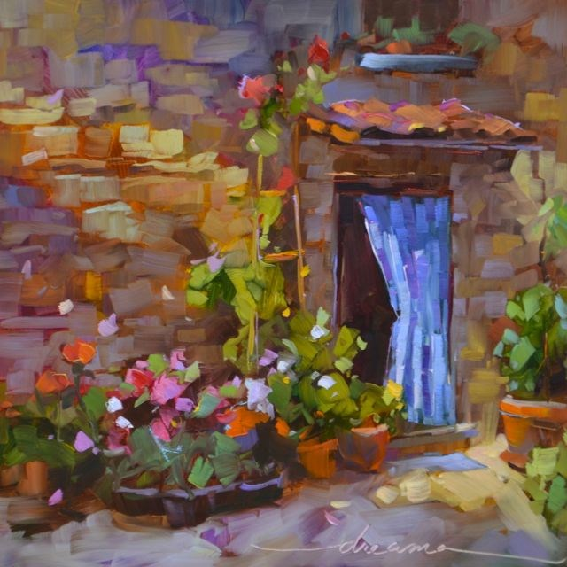 """""""A Little Corner of Italy  SOLD"""" original fine art by Dreama Tolle Perry"""