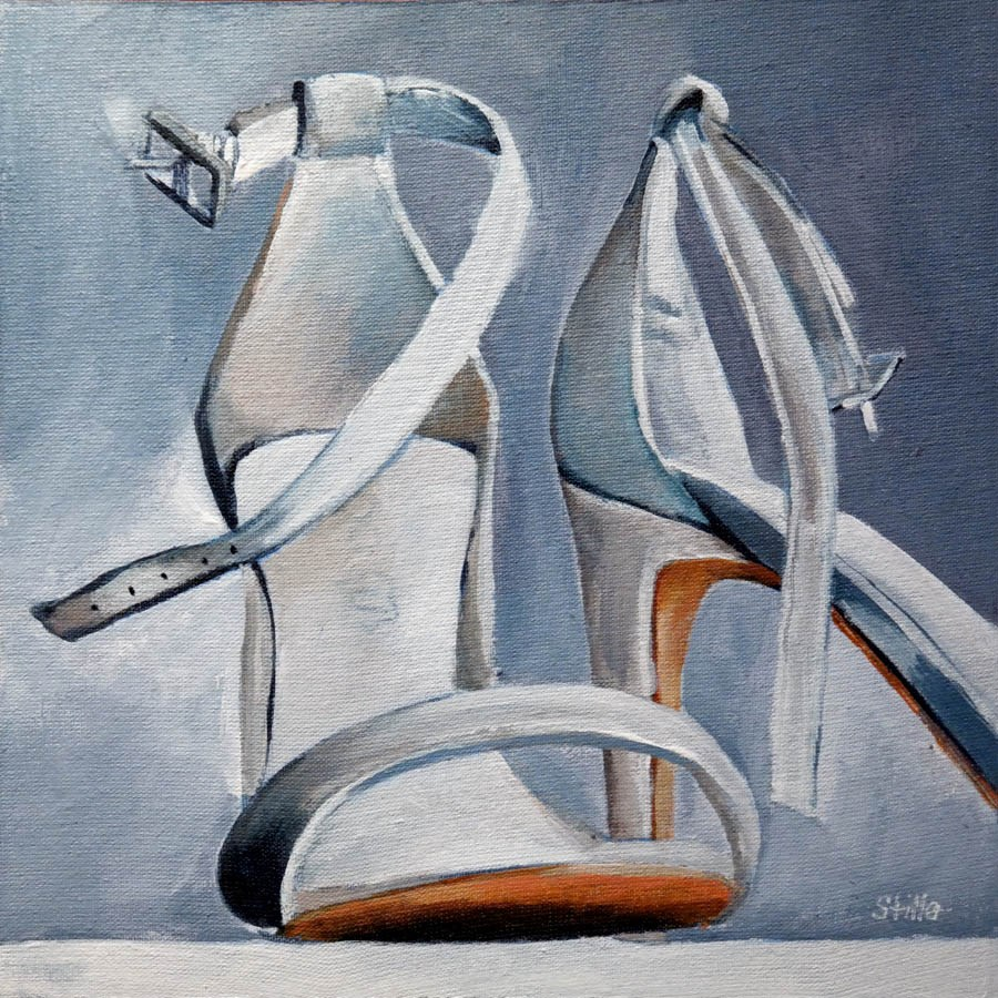 """2344 White Stilettos"" original fine art by Dietmar Stiller"