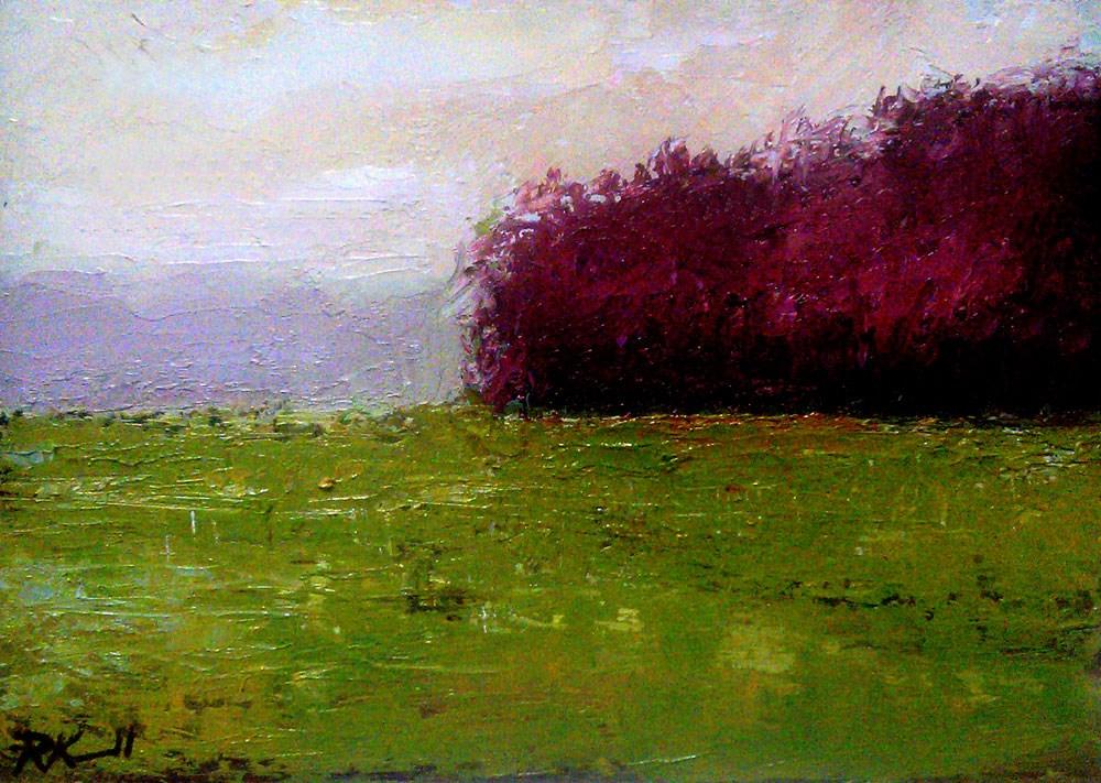 """A Group of Purple Trees"" original fine art by Bob Kimball"