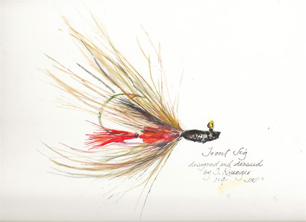 """Trout Jig"" original fine art by Jean Krueger"