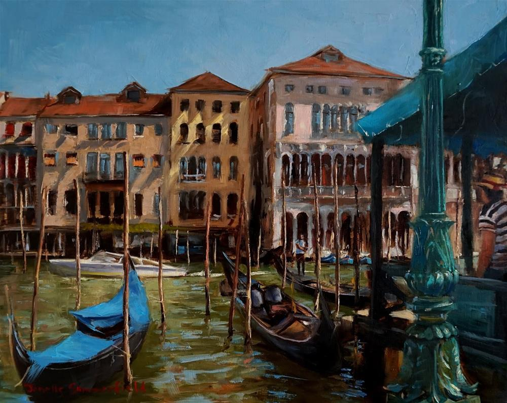 """""""Gondola Dock"""" original fine art by Jonelle Summerfield"""