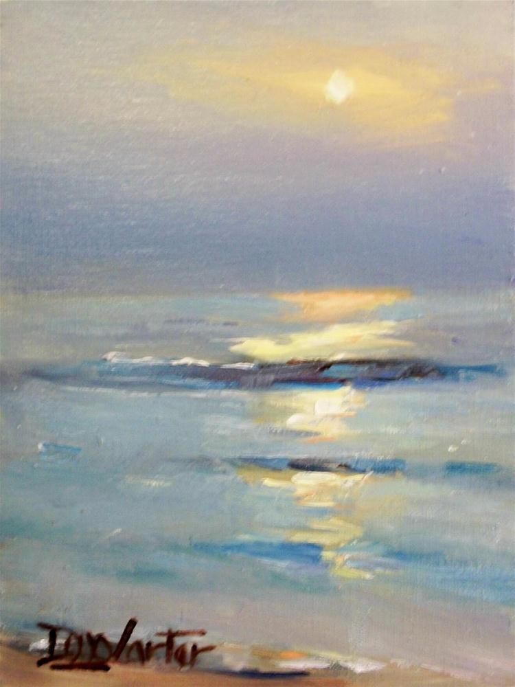 """""""OCEAN SUNSET"""" original fine art by Doug Carter"""