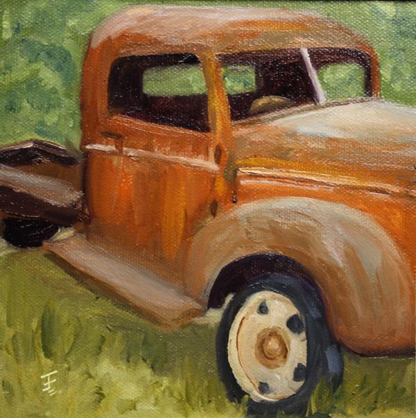 """Old Work Horse"" original fine art by Jane Frederick"