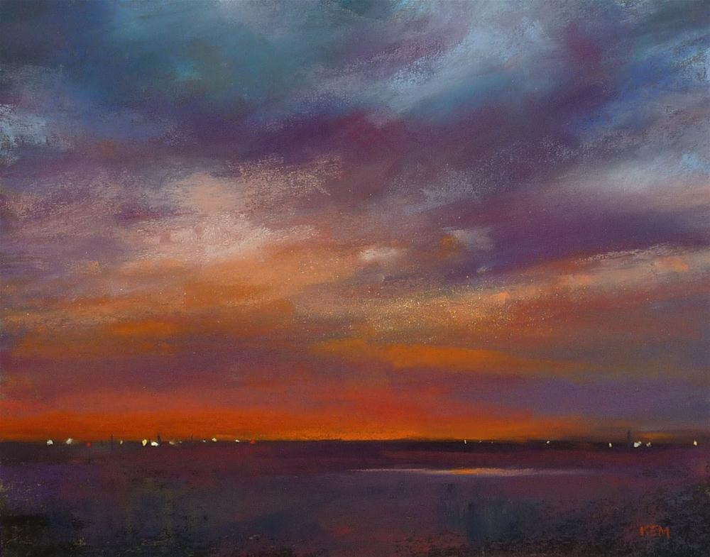 """Choosing a Palette for a Sunset Painting"" original fine art by Karen Margulis"