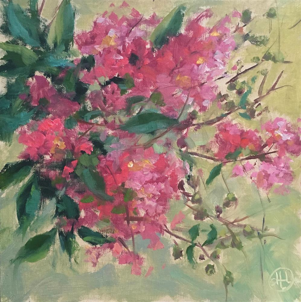 """""""september pinks II"""" original fine art by Dottie  T  Leatherwood"""