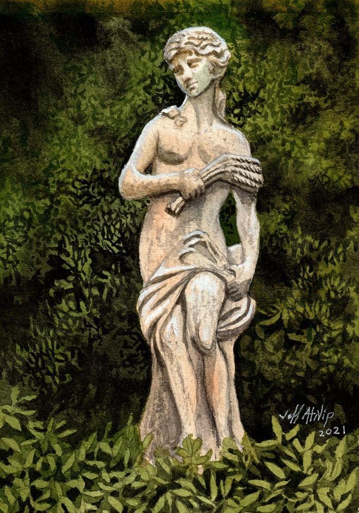 """""""Garden Statue 2"""" original fine art by Jeff Atnip"""