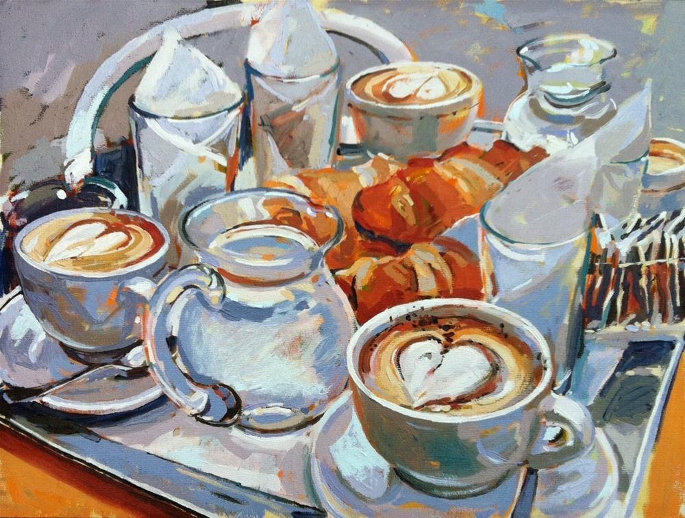 """Venice breakfast"" original fine art by Haidee-Jo Summers ROI"