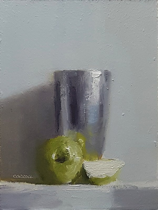 """""""Cup with Apple"""" original fine art by Neil Carroll"""
