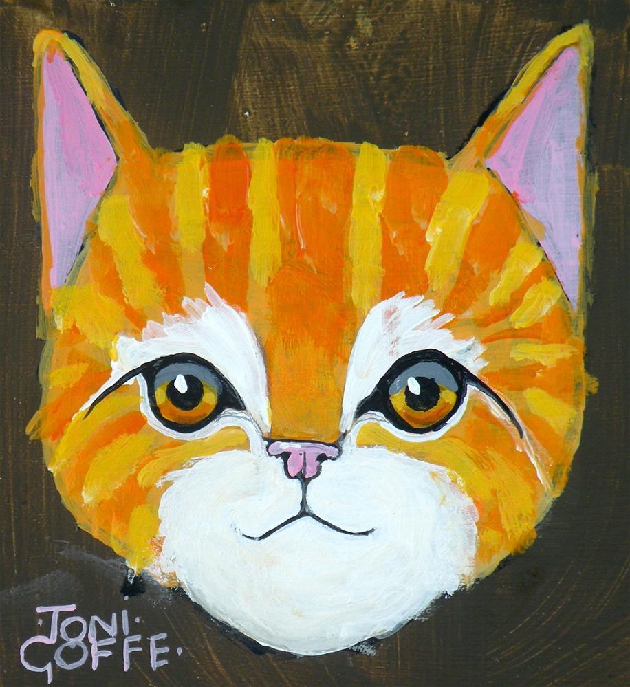 """Cheeky"" original fine art by Toni Goffe"
