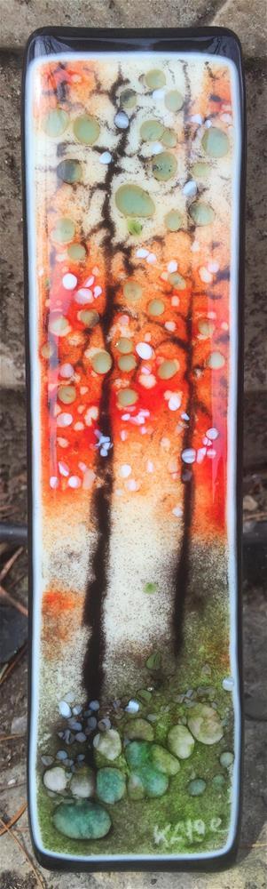 """Sgraffito Glass Trees"" original fine art by Kelly Alge"