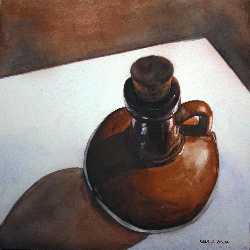 """Corked"" original fine art by Kara K. Bigda"