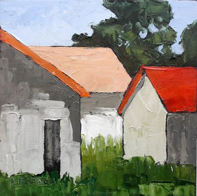 """""""Farm Barns"""" original fine art by lynne french"""