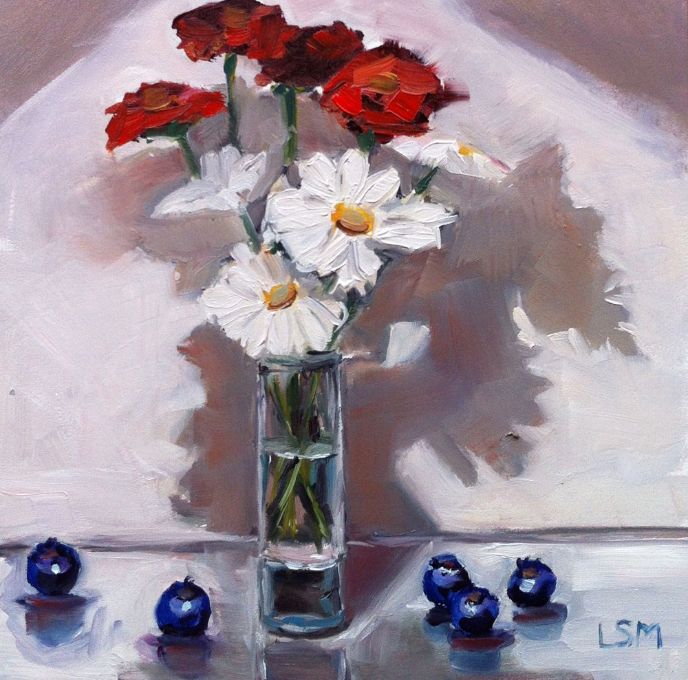 """Red, White and Blueberry"" original fine art by Linda Marino"