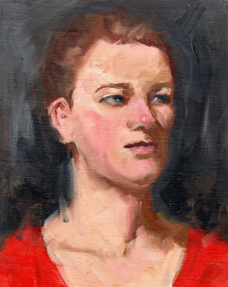 """Morgan"" original fine art by Marlene Lee"