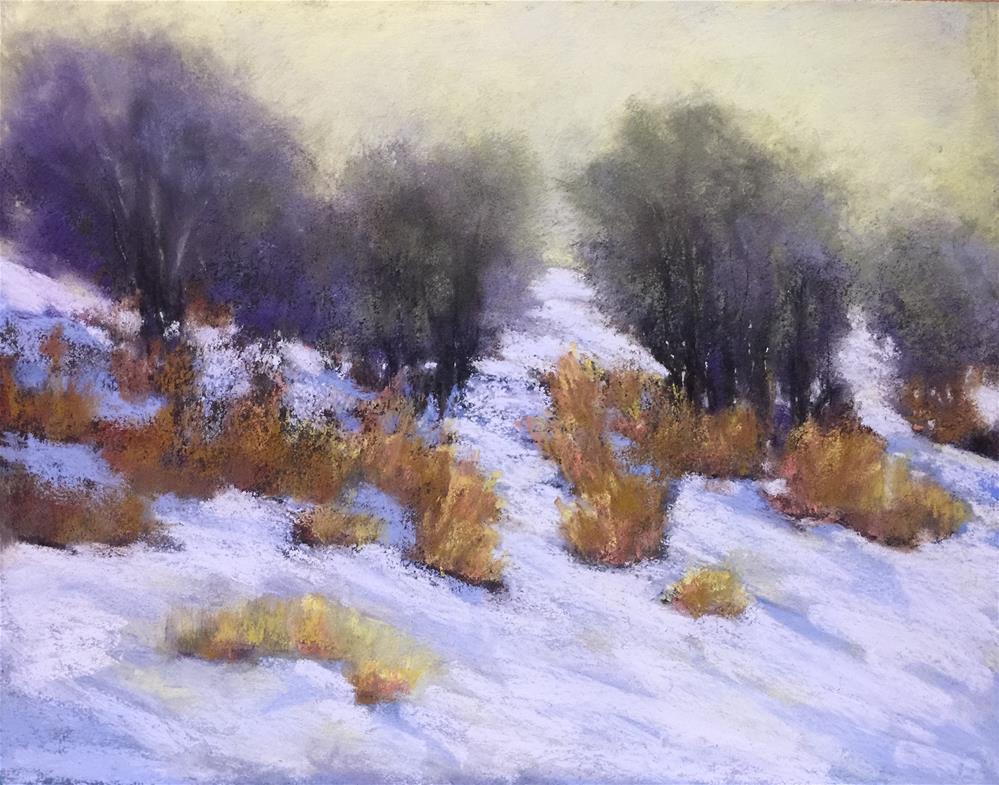 """Winter Hues"" original fine art by Donna Theresa"