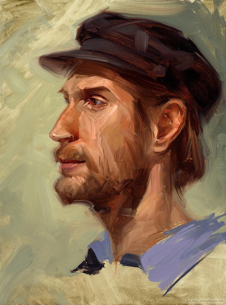 """""""Local Farmer"""" original fine art by Rob  Rey"""