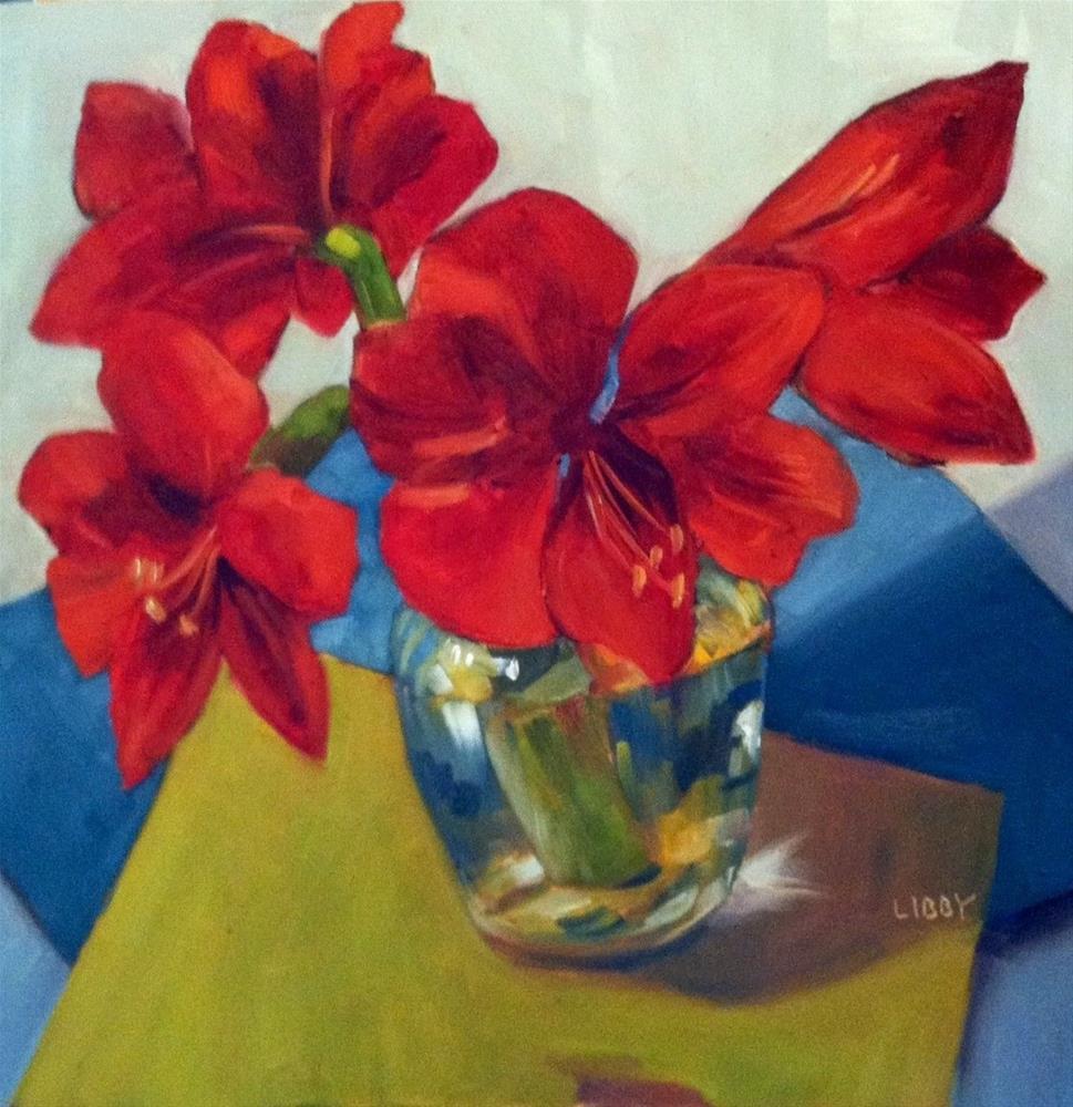"""Amaryllis"" original fine art by Libby Anderson"