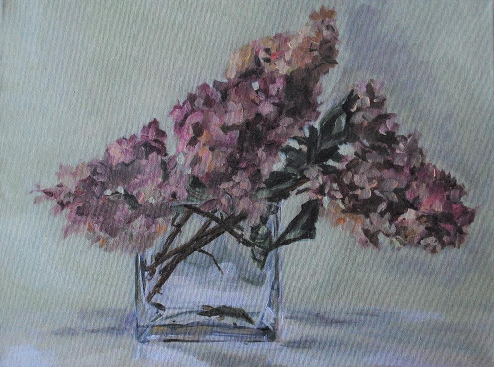"""Hydrangeas in Glass"" original fine art by Tamanda Elia"
