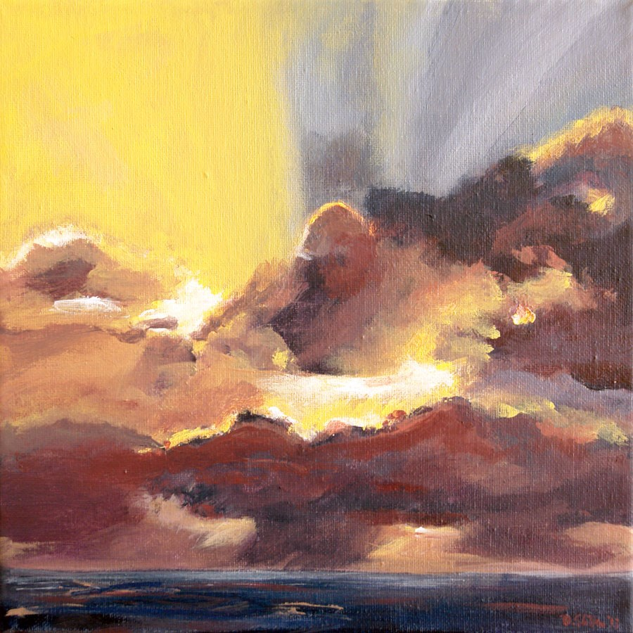 """0708 Cloudbreak"" original fine art by Dietmar Stiller"