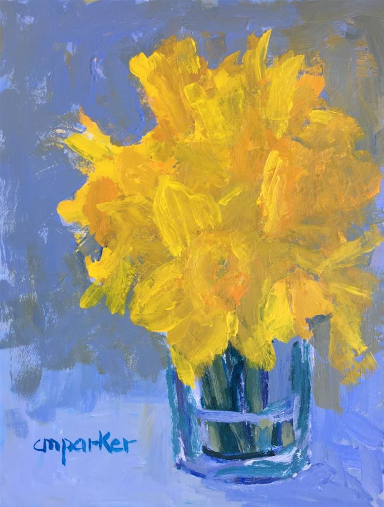 """Yellow Flowers"" original fine art by Christine Parker"