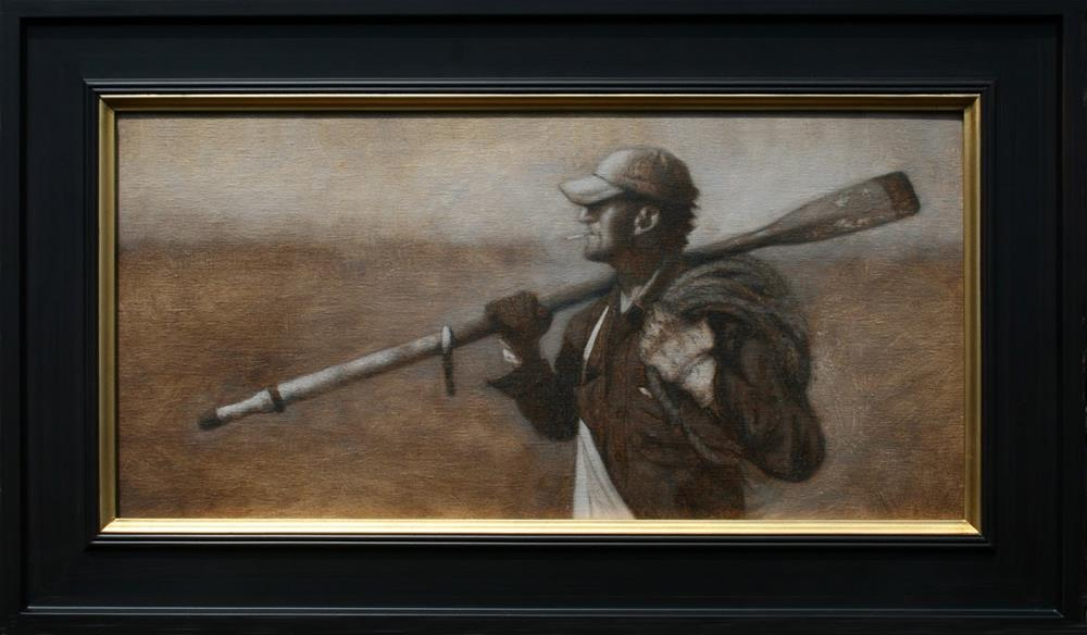 """""""Study for the Dirty Oar Grisailles"""" original fine art by Todd Bonita"""
