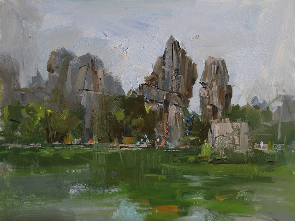 """Demo at Stone Forest Yunnan China"" original fine art by Qiang Huang"