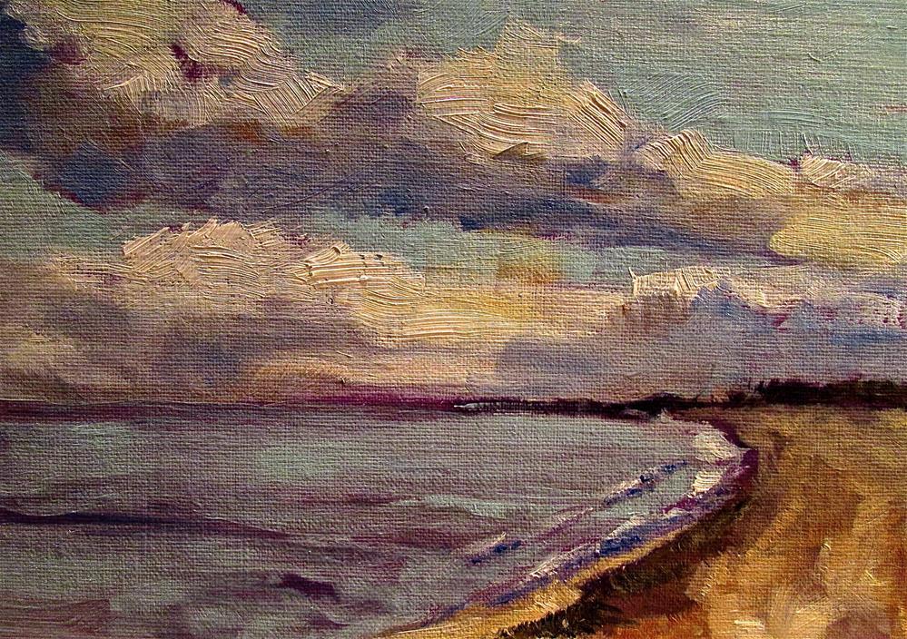 """Spring Beach"" original fine art by Aurelio Saiz"