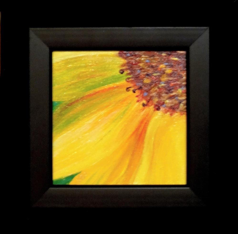 """2024 - Framed - Radiate II - Miniature Masterpiece"" original fine art by Sea Dean"
