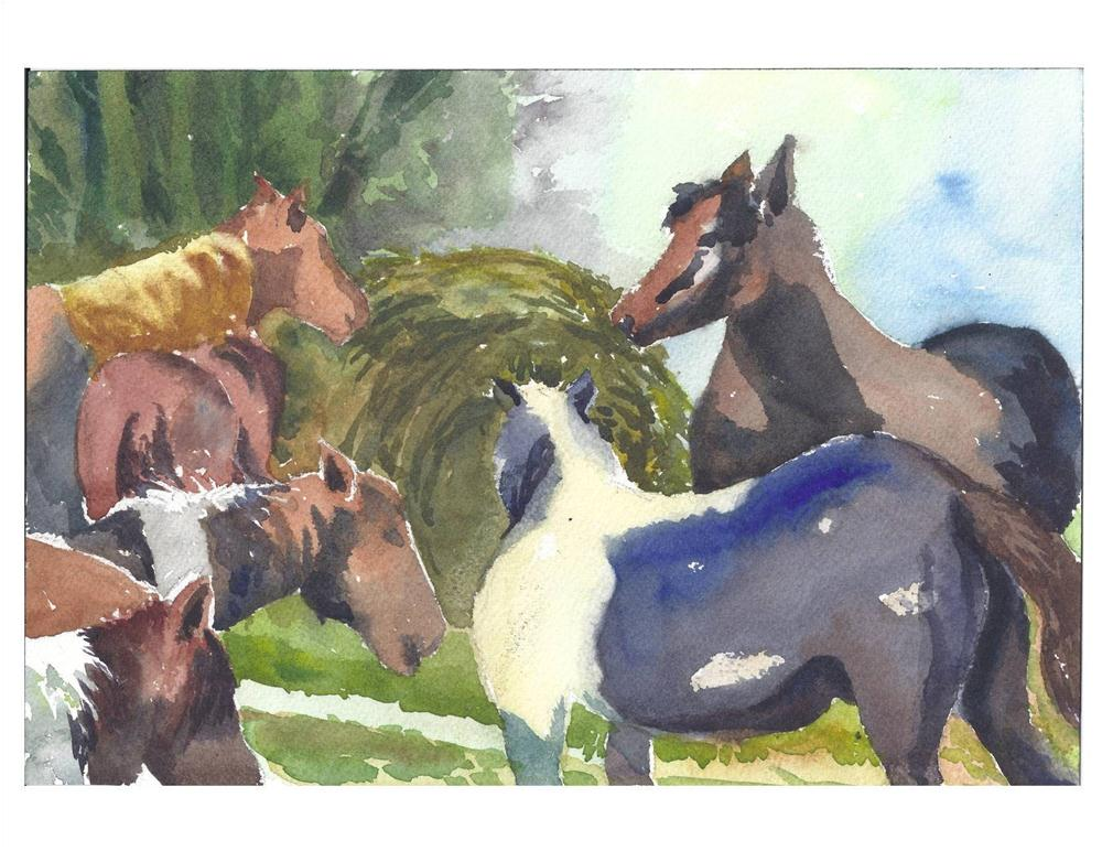 """Dinner Time"" original fine art by Suzanne Woodward"
