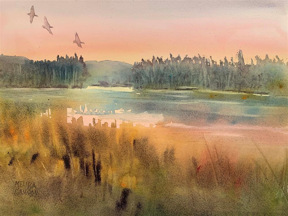 """Quiet of Dusk"" original fine art by Melissa Gannon"