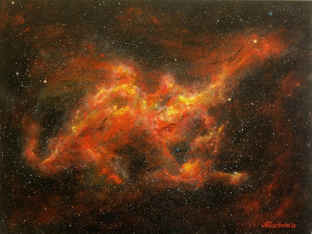 """Dragon Nebula"" original fine art by Anna Starkova"