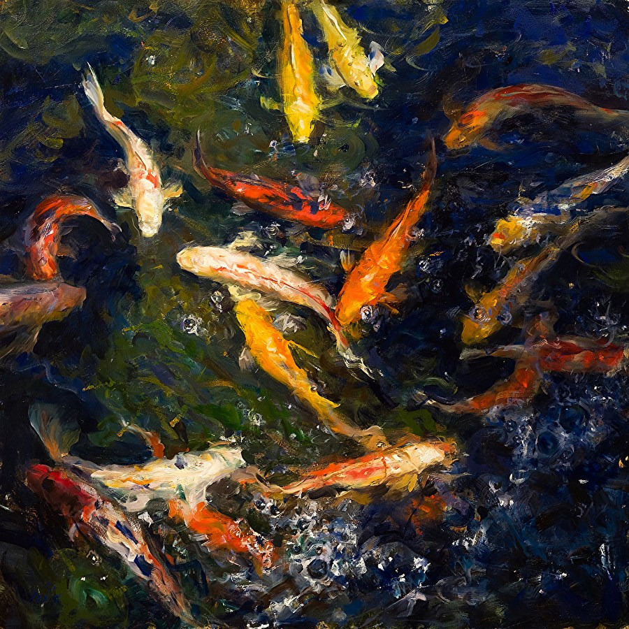 """Koi"" original fine art by Derek Penix"