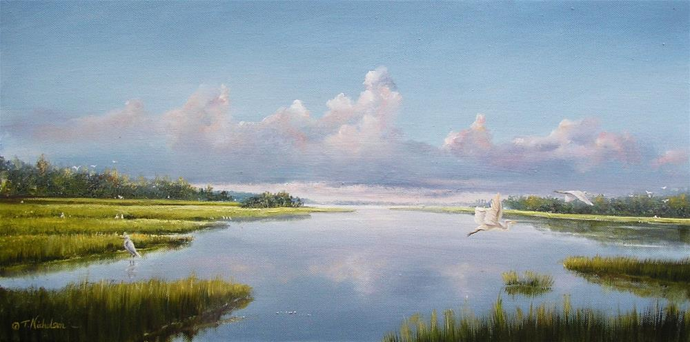 """Coastal Waterway"" original fine art by Terri Nicholson"