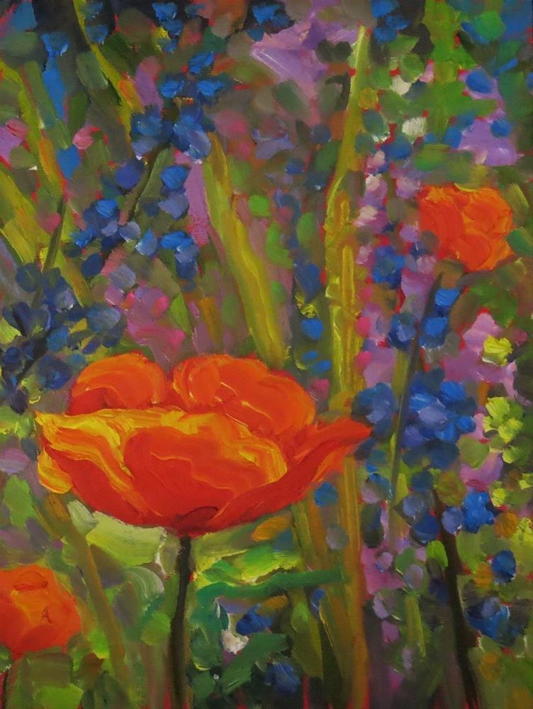 """IN THE POPPIES"" original fine art by Dee Sanchez"